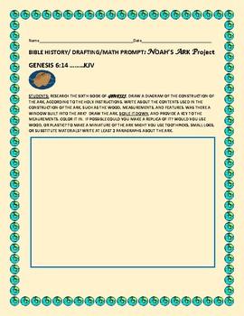 BIBLE HISTORY/ MATH MEASUREMENT/ PROMPT: NOAH'S ARK