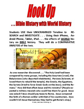 BIBLE HISTORY vs WORLD HISTORY -   36-PAGES  5-DAYS OF FUN