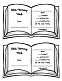 BIBLE MEMORY Work Grading Page