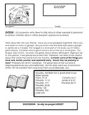 BIBLE PROJECTS BASED ON GOSSIP  (creativity activities)