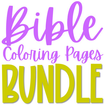 BIBLE STORY Coloring Pages BUNDLE, Christian Crafts, Activity, Sunday School