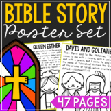 BIBLE STORY Bulletin Board Posters | Bible Verse Activity