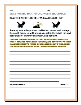 BIBLE WRITING PROMPT: COURAGE & ENDURANCE