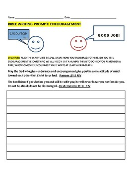 BIBLE WRITING PROMPT: ENCOURAGEMENT