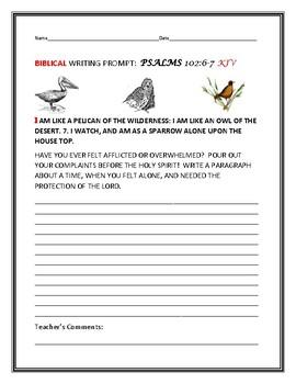 BIBLE WRITING PROMPT: PSALMS 102
