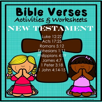 BIBLE and SCRIPTURE/MEMORY Verse actvities