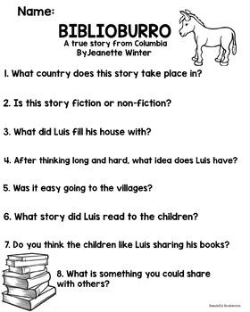 BIBLIOBURRO worksheet