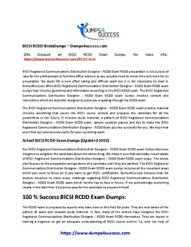 BICSI RCDD Exam Questions [2019] - Pass In First Attempt