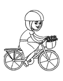 BICYCLE DAY COLORING, BUNDLE 8 PAGES, BICYCLE CLIPART, BICYCLE TEMPLATES