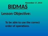 PEMDAS (BIDMAS) Order of Operations - Common Core Math 2