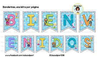 BIENVENIDOS - Globos Aerostáticos (Spanish Welcome letters)