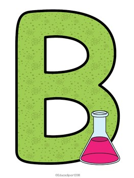 BIENVENIDOS - Laboratorio (Spanish Welcome letters with a lab theme)