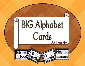 BIG Alphabet Cards Aa Thur Mm