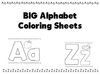 BIG Alphabet Coloring Book