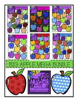 BIG Apple Bundle {Creative Clips Digital Clipart}