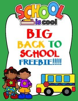 BIG BACK TO SCHOOL FREEBIE (Spanish Worksheets)