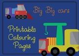 BIG BIG Cars - Printable Colouring Pages