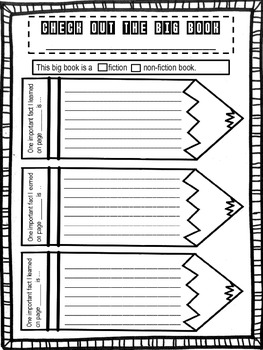 BIG BOOK Response to Literature Template