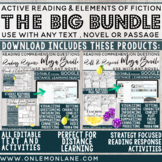 BIG BUNDLE: All Elements of Fiction & Active Reading Roll & Respond & Responses