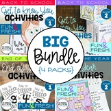 "BUNDLE: ""Back to School"" AND ""End of Year"" Activities {4 Packs}"