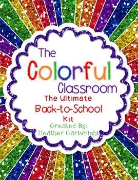 BIG BUNDLE: Colorful Classroom Decor Kit