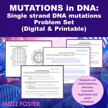 BIG BUNDLE Genetic Disorders and DNA Mutations with Chromosomal Abnormalities