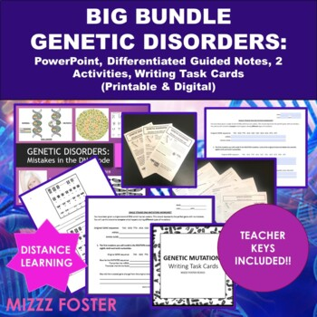 BIG BUNDLE Genetic Disorders and DNA Mutations with Chromo