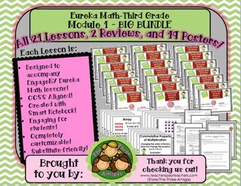 BIG BUNDLE Module 1 Eureka Math Third Grade
