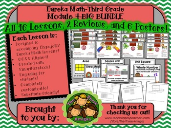 BIG BUNDLE Module 4 Eureka Math Third Grade
