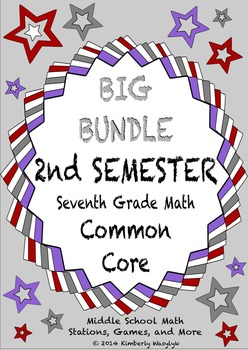 THE BIG BUNDLE Seventh Grade Common Core Math Stations Second Semester