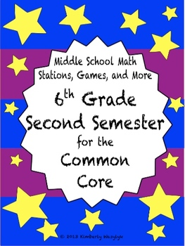 BIG BUNDLE Sixth Grade Common Core Math Stations Second Semester