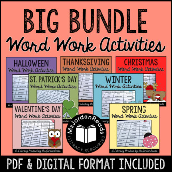 Holiday Word Work & Literacy Activity Bundle