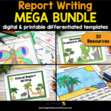 Informational Writing Templates | Report Writing Bundle |