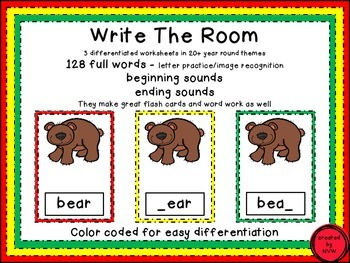 BIG BUNDLE of Write the Room, Flash Cards and Word Wall and Word Work
