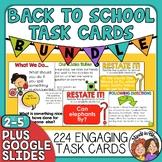 BIG Back To School Task Card Bundle  Rules, Procedures, Ic