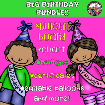 BIG Birthday Bundle! Editables and More!