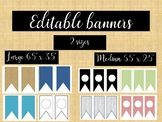 BIG Bundle of Editable Banners 2 sizes
