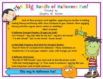 BIG Bundle of Halloween Fun! ~ Emergent Readers, Word Work, & Games for Centers