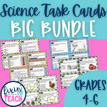 BIG Bundle of Science Task Cards {QR Code Answers}