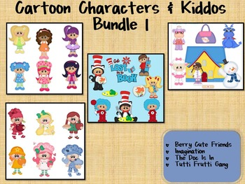BIG Clipart Bundle ~Cartoon Characters & Kiddos I ~ Seuss, La-la, Shortcake, Doc