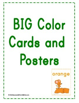 BIG Color Cards and Posters