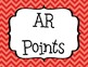 Accelerated Reader (AR) Points Club Clip Chart - BIG - EDITABLE! - Cute Chevrons