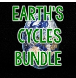 BUNDLE Earth Cycles Science Interactive Notebook, Workshee