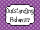 Behavior Clip Chart - Classroom Management - BIGGER Size- Editable! - Polka Dots