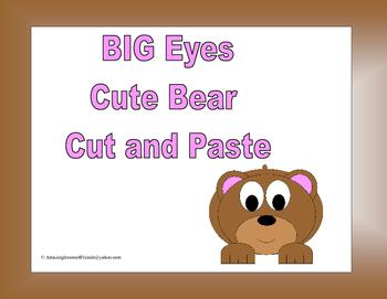 BIG Eyes Cut Bear Cut and Paste