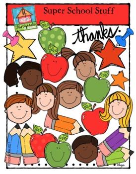 FREEBIE Super School Stuff (P4 Clips Trioriginals Clip Art) Thanks