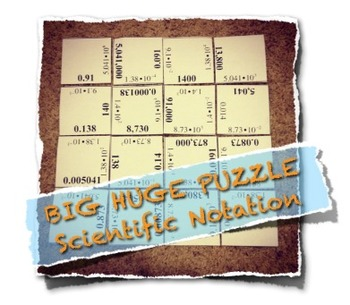 BIG HUGE PUZZLE Scientific Notation and Standard Numeral M
