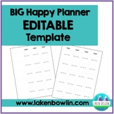 BIG Happy Planner Teacher Edition Lesson Plan Template- EDITABLE