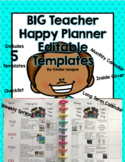 BIG Happy Planner Templates by Kinder League