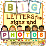 BIG Letters for Signs and Photos